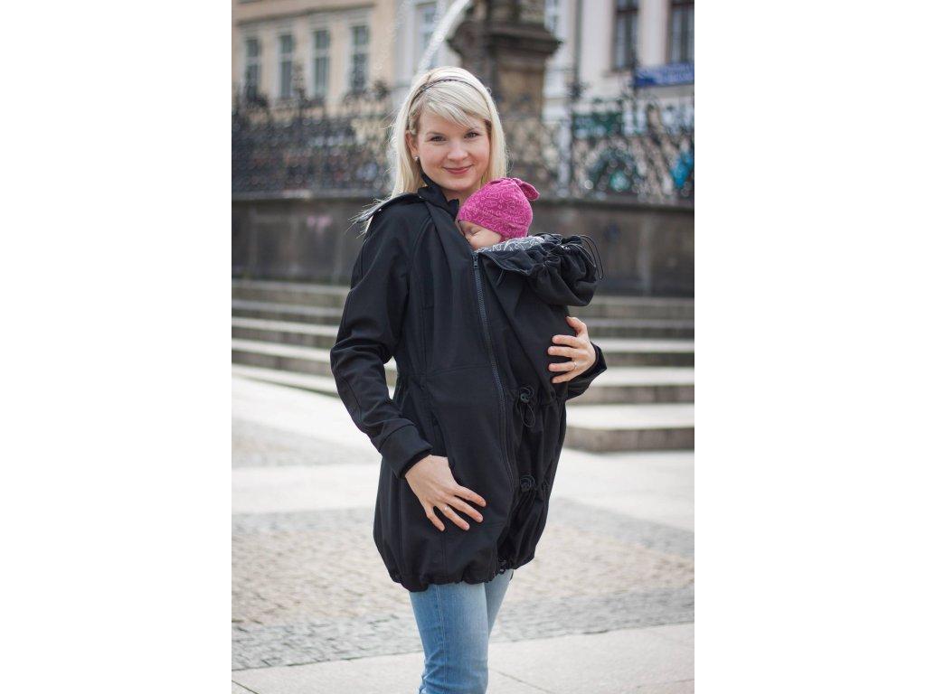 Kabát na nošení dětí - barva černá