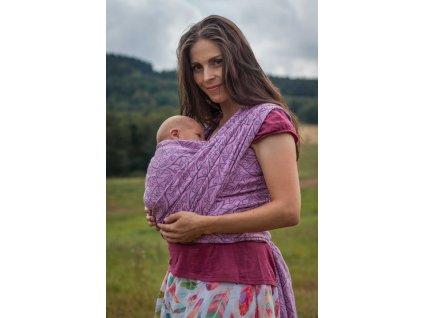 Bird Garden Rhodonite - šátek na nošení dětí