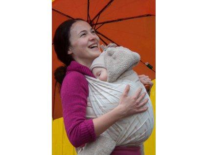 Raindrops Latte - šátek na nošení dětí