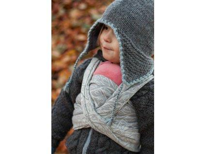Šátek na panenky Bird Garden Grey